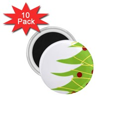 Christmas Tree Christmas 1 75  Magnets (10 Pack)  by Nexatart