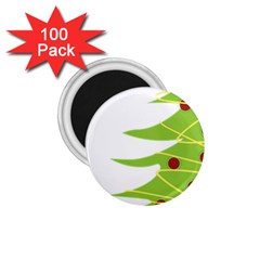 Christmas Tree Christmas 1 75  Magnets (100 Pack)  by Nexatart
