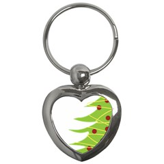 Christmas Tree Christmas Key Chains (heart)  by Nexatart