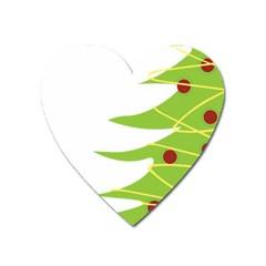 Christmas Tree Christmas Heart Magnet by Nexatart