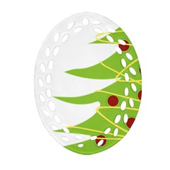 Christmas Tree Christmas Oval Filigree Ornament (two Sides) by Nexatart