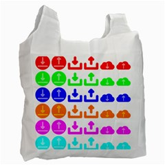 Download Upload Web Icon Internet Recycle Bag (One Side) by Nexatart
