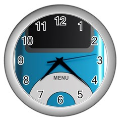 Digital Mp3 Musik Player Wall Clocks (silver)  by Nexatart