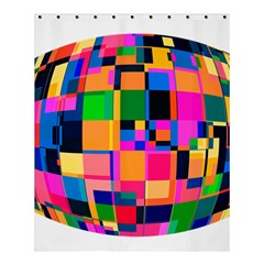 Color Focusing Screen Vault Arched Shower Curtain 60  X 72  (medium)  by Nexatart