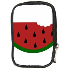 Food Slice Fruit Bitten Watermelon Compact Camera Cases by Nexatart