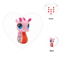 Dragon Toy Pink Plaything Creature Playing Cards (heart)  by Nexatart