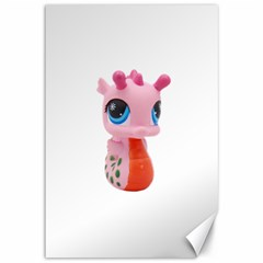 Dragon Toy Pink Plaything Creature Canvas 12  X 18   by Nexatart