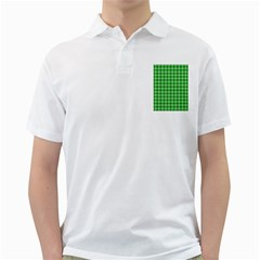 Gingham Background Fabric Texture Golf Shirts