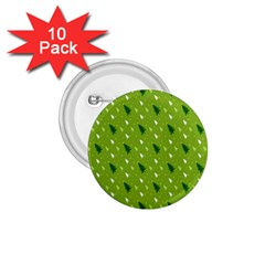 Green Christmas Tree Background 1 75  Buttons (10 Pack) by Nexatart