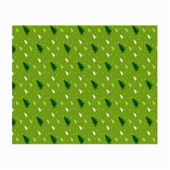 Green Christmas Tree Background Small Glasses Cloth by Nexatart