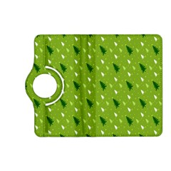 Green Christmas Tree Background Kindle Fire Hd (2013) Flip 360 Case by Nexatart