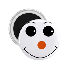 Happy Face With Orange Nose Vector File 2 25  Magnets by Nexatart