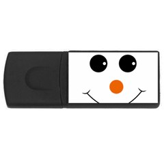 Happy Face With Orange Nose Vector File Usb Flash Drive Rectangular (4 Gb) by Nexatart