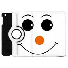Happy Face With Orange Nose Vector File Apple Ipad Mini Flip 360 Case by Nexatart