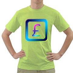Icon Pound Money Currency Symbols Green T-Shirt