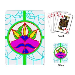 Pattern Template Stained Glass Playing Card by Nexatart