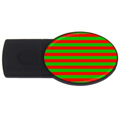 Pattern Lines Red Green Usb Flash Drive Oval (4 Gb) by Nexatart