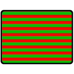 Pattern Lines Red Green Double Sided Fleece Blanket (large)  by Nexatart