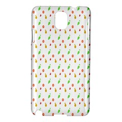 Fruit Pattern Vector Background Samsung Galaxy Note 3 N9005 Hardshell Case by Nexatart