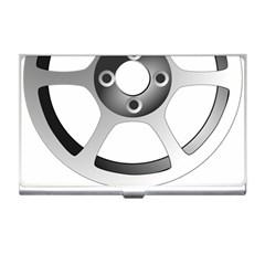 Car Wheel Chrome Rim Business Card Holders by Nexatart