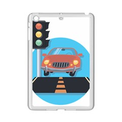 Semaphore Car Road City Traffic Ipad Mini 2 Enamel Coated Cases by Nexatart