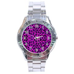 Pattern Design Textile Stainless Steel Analogue Watch