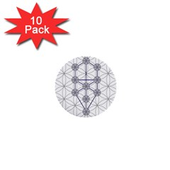 Tree Of Life Flower Of Life Stage 1  Mini Buttons (10 Pack)  by Nexatart
