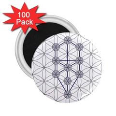 Tree Of Life Flower Of Life Stage 2 25  Magnets (100 Pack)  by Nexatart