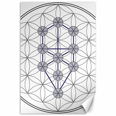 Tree Of Life Flower Of Life Stage Canvas 24  X 36  by Nexatart