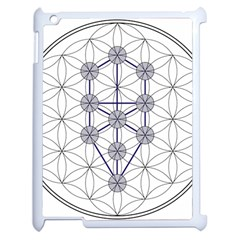 Tree Of Life Flower Of Life Stage Apple Ipad 2 Case (white) by Nexatart