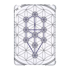 Tree Of Life Flower Of Life Stage Apple Ipad Mini Hardshell Case (compatible With Smart Cover) by Nexatart