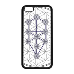 Tree Of Life Flower Of Life Stage Apple Iphone 5c Seamless Case (black) by Nexatart