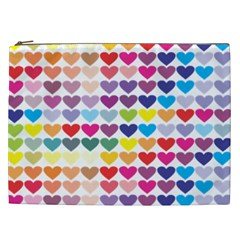 Heart Love Color Colorful Cosmetic Bag (xxl)  by Nexatart