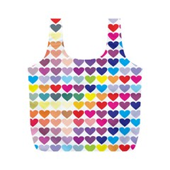 Heart Love Color Colorful Full Print Recycle Bags (m)  by Nexatart