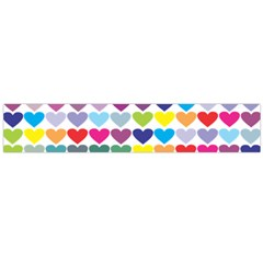 Heart Love Color Colorful Flano Scarf (large) by Nexatart