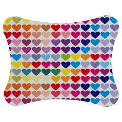 Heart Love Color Colorful Jigsaw Puzzle Photo Stand (Bow) by Nexatart