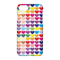 Heart Love Color Colorful Apple Iphone 7 Hardshell Case by Nexatart
