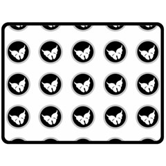 Butterfly Wallpaper Background Fleece Blanket (large)  by Nexatart