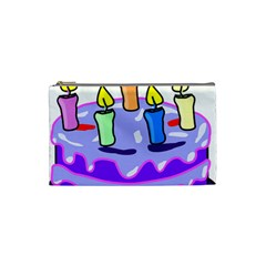 Cake Happy Birthday Cosmetic Bag (small)  by Nexatart