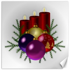 Candles Christmas Tree Decorations Canvas 16  x 16   by Nexatart