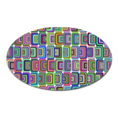 Psychedelic 70 S 1970 S Abstract Oval Magnet by Nexatart