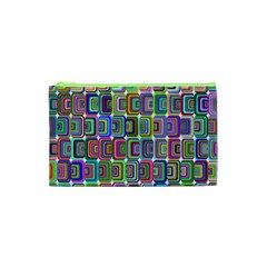 Psychedelic 70 S 1970 S Abstract Cosmetic Bag (xs) by Nexatart