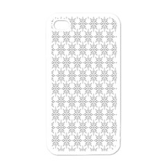 Ornamental Decorative Floral Apple Iphone 4 Case (white) by Nexatart
