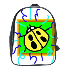 Insect Ladybug School Bags (xl)  by Nexatart