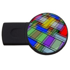 Abstract Background Pattern Usb Flash Drive Round (2 Gb) by Nexatart