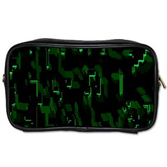 Abstract Art Background Green Toiletries Bags by Nexatart
