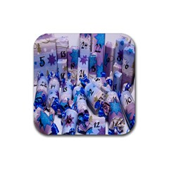 Advent Calendar Gifts Rubber Coaster (square)  by Nexatart