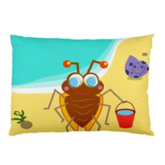 Animal Nature Cartoon Bug Insect Pillow Case (two Sides) by Nexatart