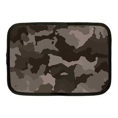 Background For Scrapbooking Or Other Camouflage Patterns Beige And Brown Netbook Case (medium)  by Nexatart