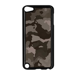 Background For Scrapbooking Or Other Camouflage Patterns Beige And Brown Apple Ipod Touch 5 Case (black) by Nexatart